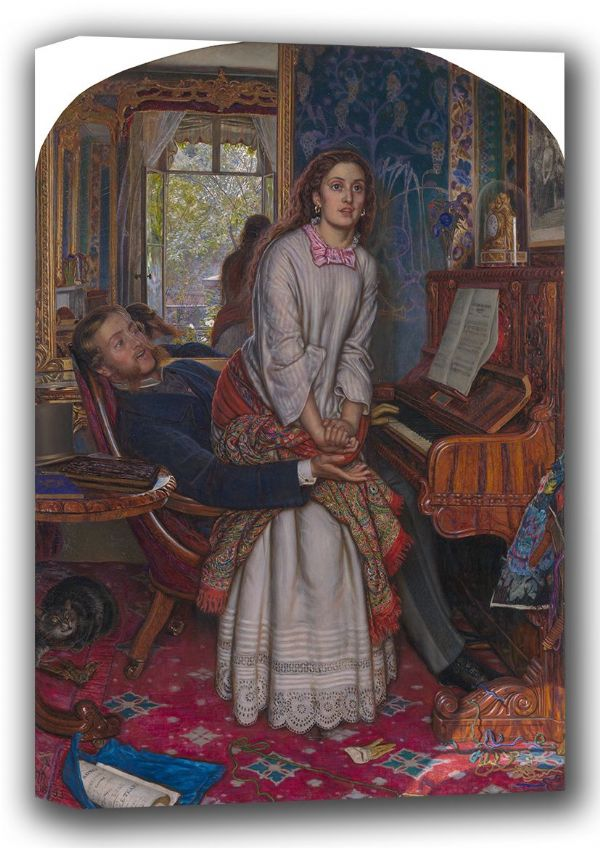 Hunt, William Holman: The Awakening Conscience. Fine Art Canvas. Sizes: A4/A3/A2/A1 (001541)
